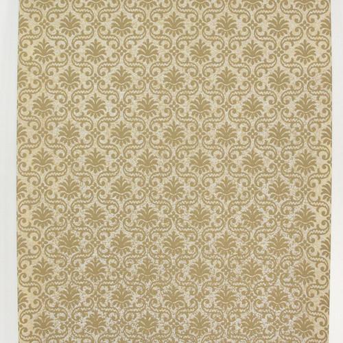 1950s Vintage Wallpaper Thomas Strahan Brown Gold Damask