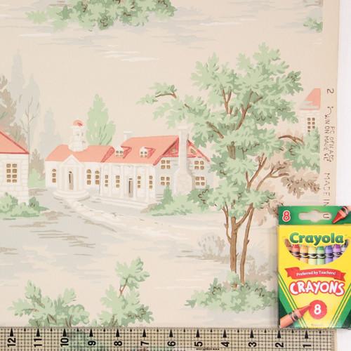 1950s Vintage Wallpaper Scenic