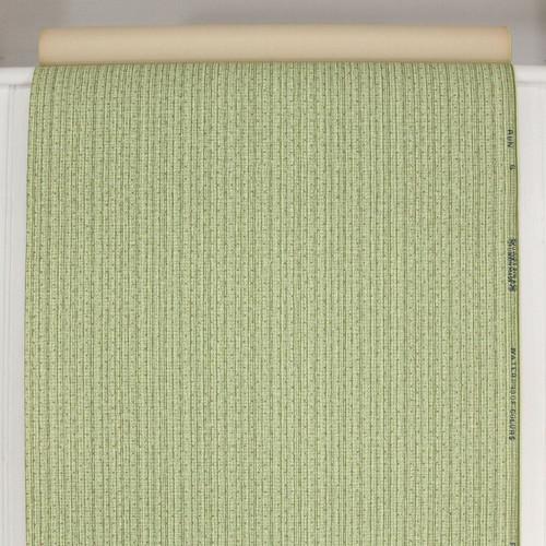 1940s Vintage Wallpaper Green Stripe Red Dot Weave
