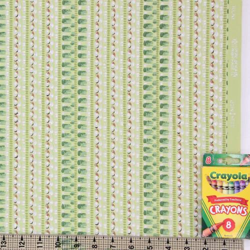 1940s Vintage Wallpaper Chartreuse Stripe