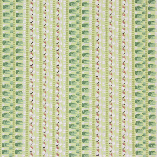 1940s Vintage Wallpaper Chartreuse Stripe