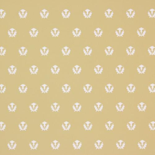 1950s Vintage Wallpaper Thomas Strahan Thistles White on Gold