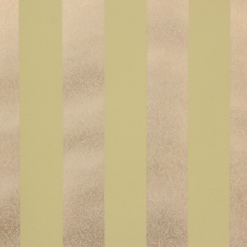 1950s Vintage Wallpaper Thomas Strahan Green Gold Stripe