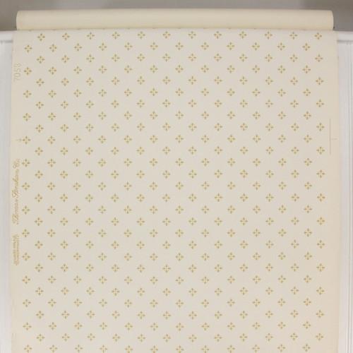 1950s Vintage Wallpaper Thomas Strahan Yellow Gold Geometric on White