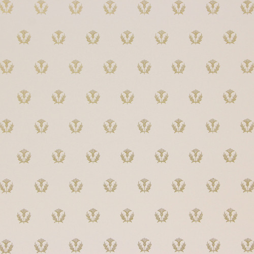 1950s Vintage Wallpaper Thomas Strahan Thistles Gold on Lilac