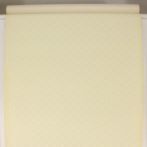 1950s Vintage Wallpaper Thomas Strahan White Geometric on Yellow