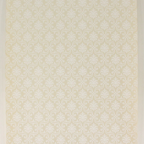 1950s Vintage Wallpaper Thomas Strahan White Damask