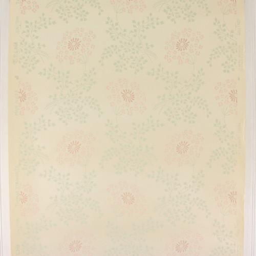 1950s Vintage Wallpaper Thomas Strahan Pink Flowers