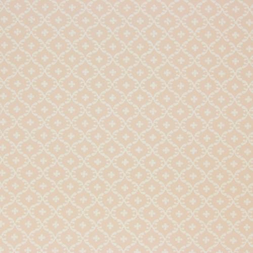 1950s Vintage Wallpaper Thomas Strahan White Geometric on Pink