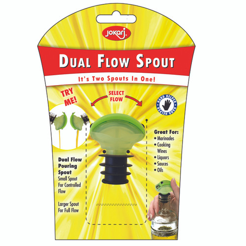 2 Spouts in 1! - Small Spout for controlled flow - Larger Spout for FULL flow
