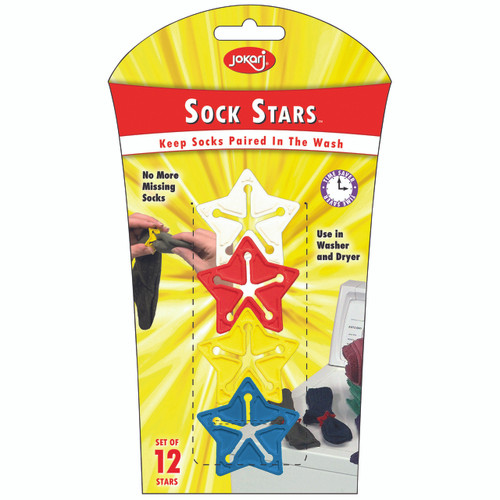 NO MORE MISSING SOCKS! Set of 12 Stars Use in Washer and Dryer