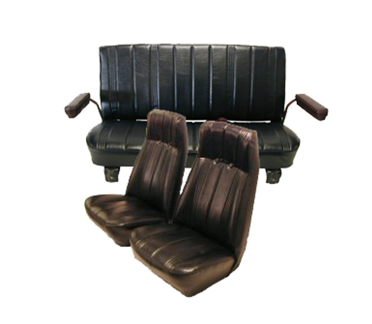1973-1987 Chevrolet Blazer Front Bucket High Back And Rear Bench Seat  Upholstery Set