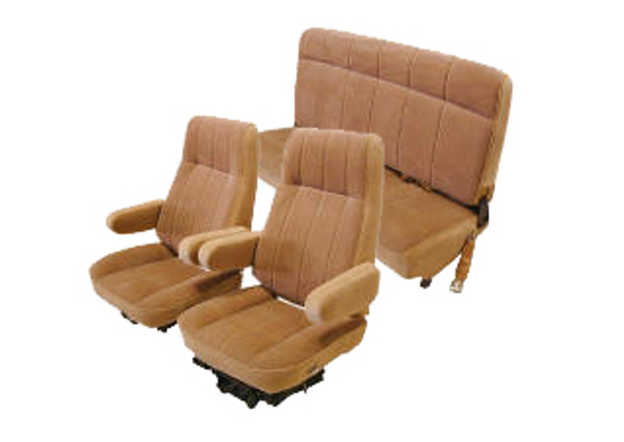 1980 1986 Ford Bronco Front Buckets Rear Bench Seat Upholstery Set Vinyl Quality Car Interior