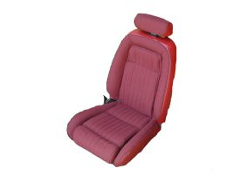 1987-1989 Ford Mustang Sport Coupe Front & Rear Seat Upholstery Set - With Leg Lumbar - All Leather - Matching Sides & Back