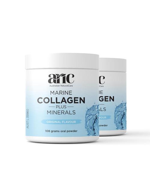 Marine Collagen Plus Minerals (Original Flavour) 2 x 108g