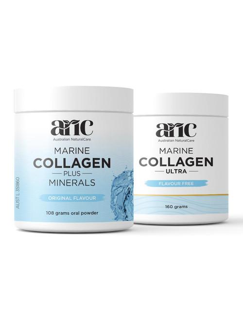 Marine Collagen Ultra 1 x 160g + Marine Collagen Plus Minerals (Original Flavour) 1 x 108g