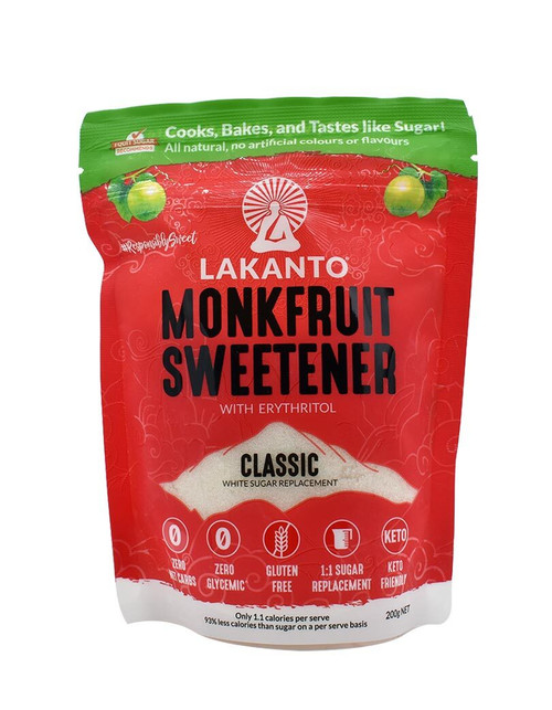 Lakanto Monk Fruit Sweetener with Erythritol  - Classic 200gm