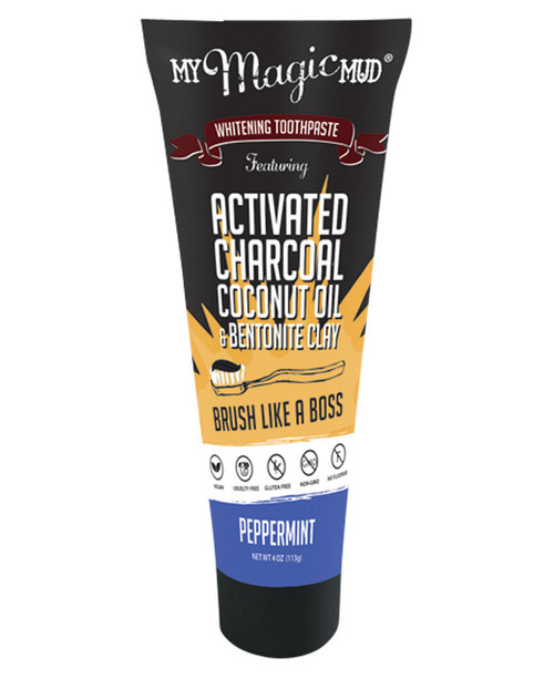 My Magic Mud Activated Charcoal Whitening Toothpaste Peppermint 113g