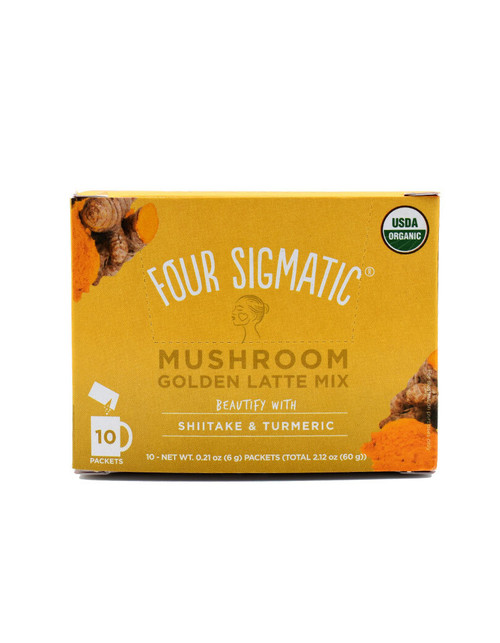 Four Sigmatic Mushroom Golden Latte Mix With Shiitake & Turmeric 10x6g