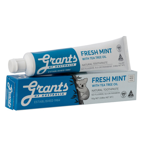 Grants Fresh Mint & Tea Tree Oil Natural Toothpaste -110g