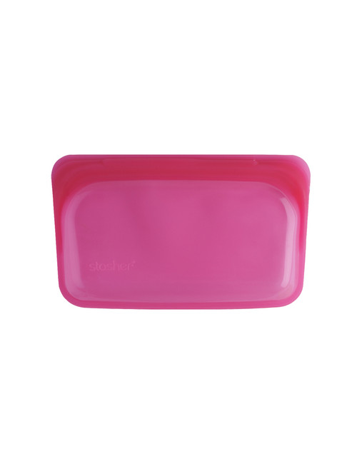 Stasher Silicone Bag - Snack Size - Raspberry