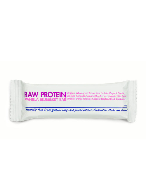 Raw Protein Vanilla Blueberry Bar 55gm