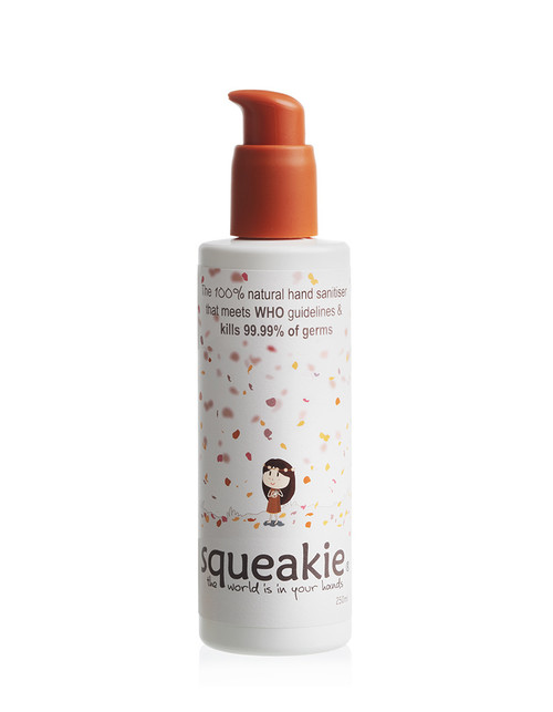 Squeakie Hand Sanitizer Sandalwood Copaiba & Tangerine 250ml