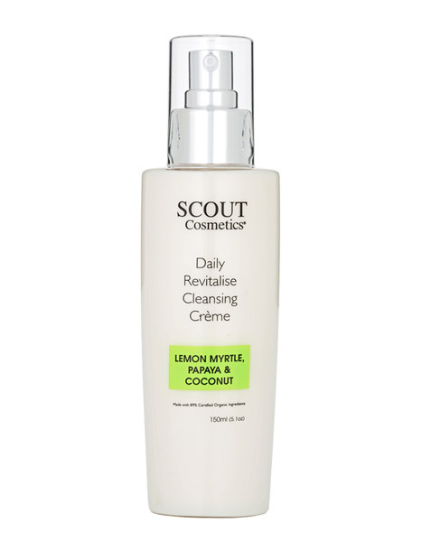 Scout Cosmetics Daily Revitalise Cleansing Crème with Lemon Myrtle, Papaya and Coconut 150ml
