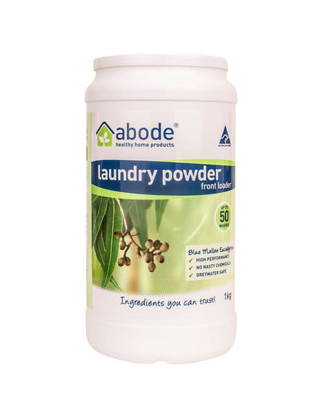 Abode Front and Top Loader Laundry PowderEucalyptus1kg