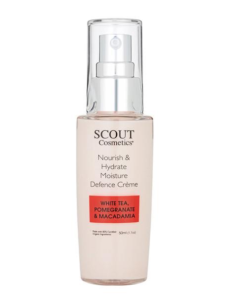 Scout Cosmetics Nourish & Hydrate Moisture Defence Crème with White Tea, Pomegranate and Macadamia  50ml