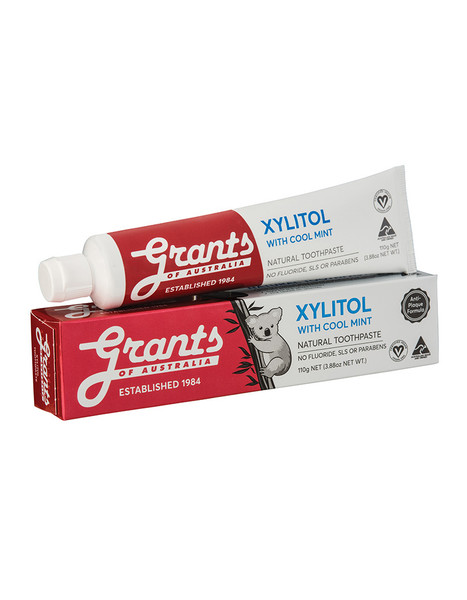 Grants Xylitol with Cool Mint Natural Toothpaste - 110g
