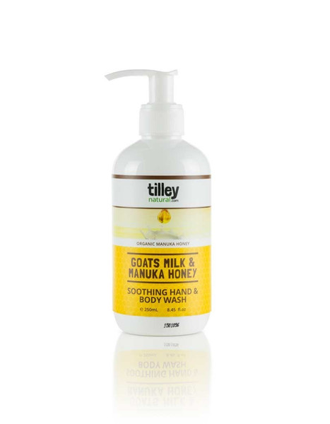 Tilley Natural Goats Milk & Manuka Honey Soothing Hand & Body Wash 250ml