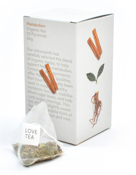 Love Organic Tea Metabolism 20 Pyramid bags 50gm