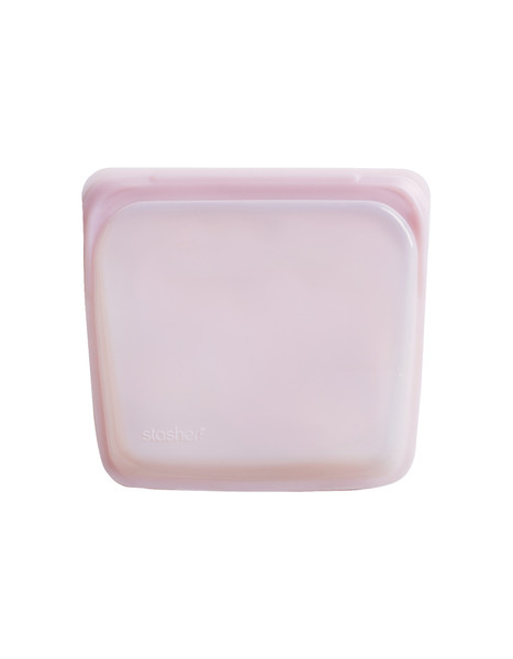 Stasher Silicone Bag - Sandwich Size - Rose Quartz