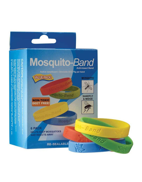 Mosquito-Band Anti-insect Band Pack of 6 bands