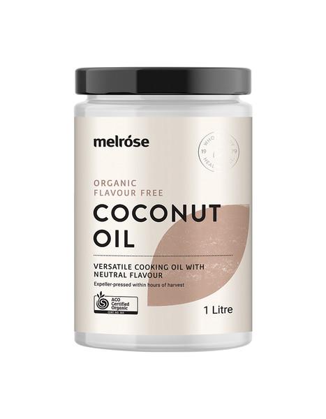 Melrose Organic Coconut Oil Flavour Free 1L