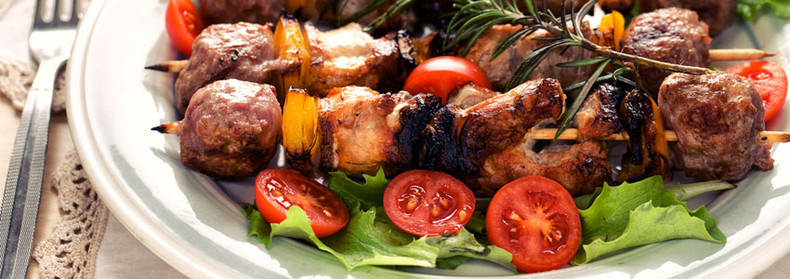 Sizzling Chicken Skewers with Summer Salad Recipe
