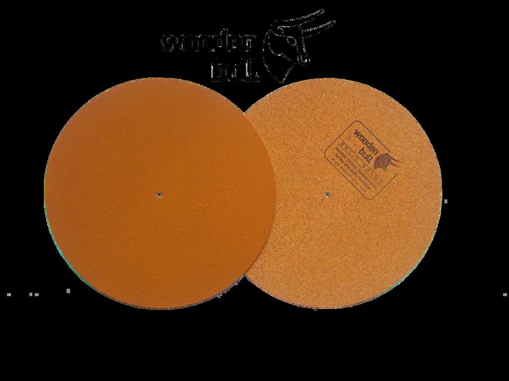 Wooden Bull Leather & Cork Turntable Mat - Retro Tan