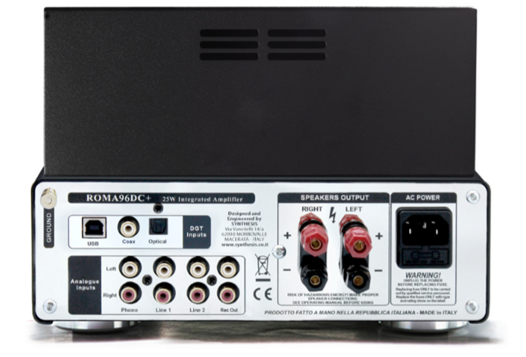 Synthesis Roma 96DC Integrated Valve Amplifier Aluminium