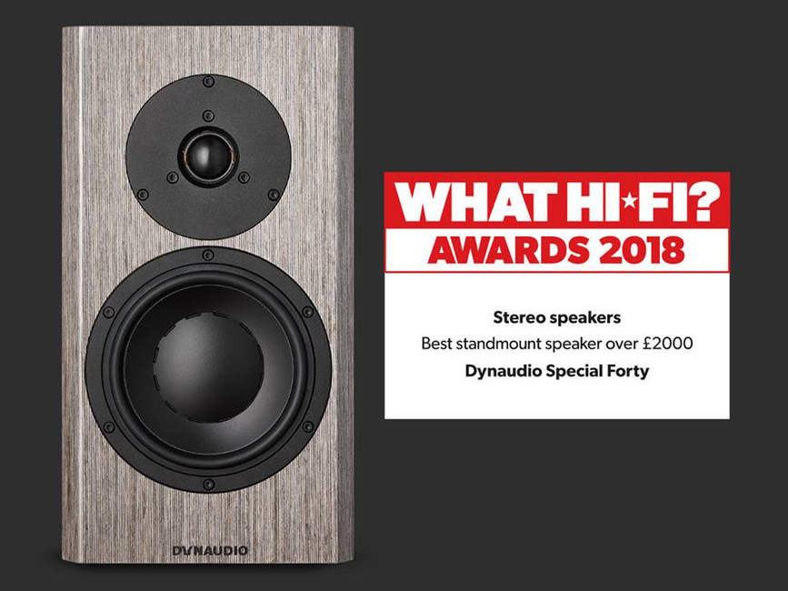Dynaudio Special Forty wins What HiFi? Best Standmount Speaker over £2,000
