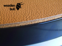 Wooden Bull Leather & Cork Turntable Mat - Retro Tan