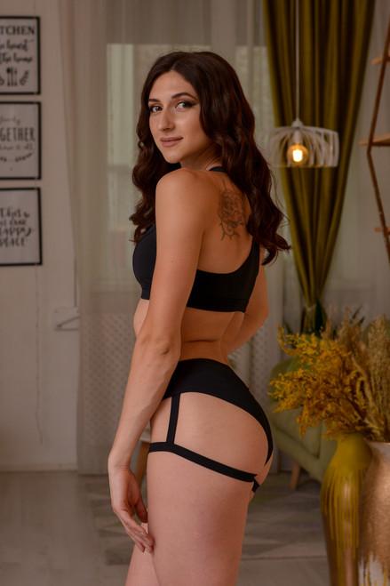 Shorts Natalie Black, poleshorts, polewear, polegear, sportshorts
