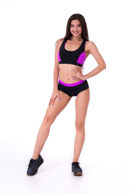 Workout Top Sapphire Black-Fuxia