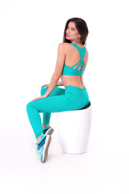 Fitness Top Sapphire Turquoise