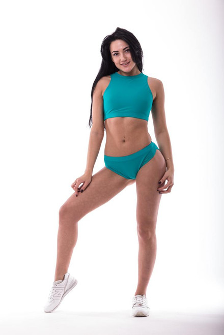 Pole Dance Top Amber Turquoise