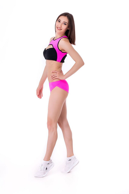 Yoga Top Eveline Pink-Black