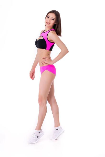 Yoga Top Eveline Pink-Black