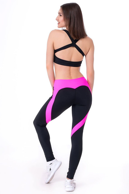 Fitness Leggings Ella Black-Pink