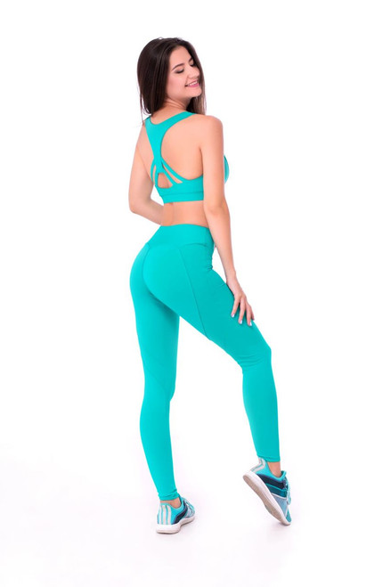 Workout Leggings Ella Turquoise