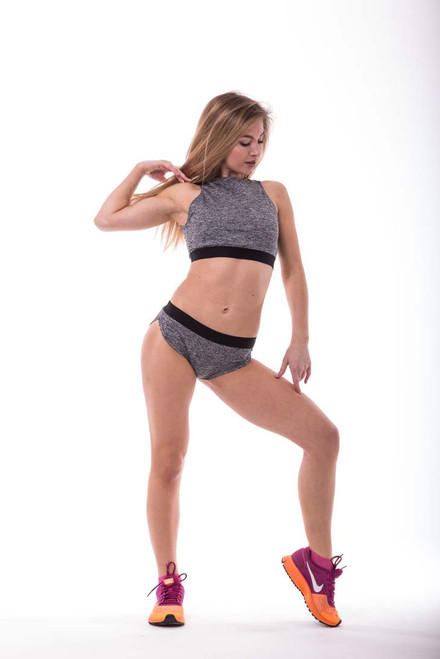 Pole Dance Shorts Pyrope Grey-Black